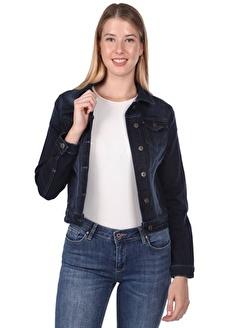 Banny Jeans Cep Detaylı Kadın Jean Ceket